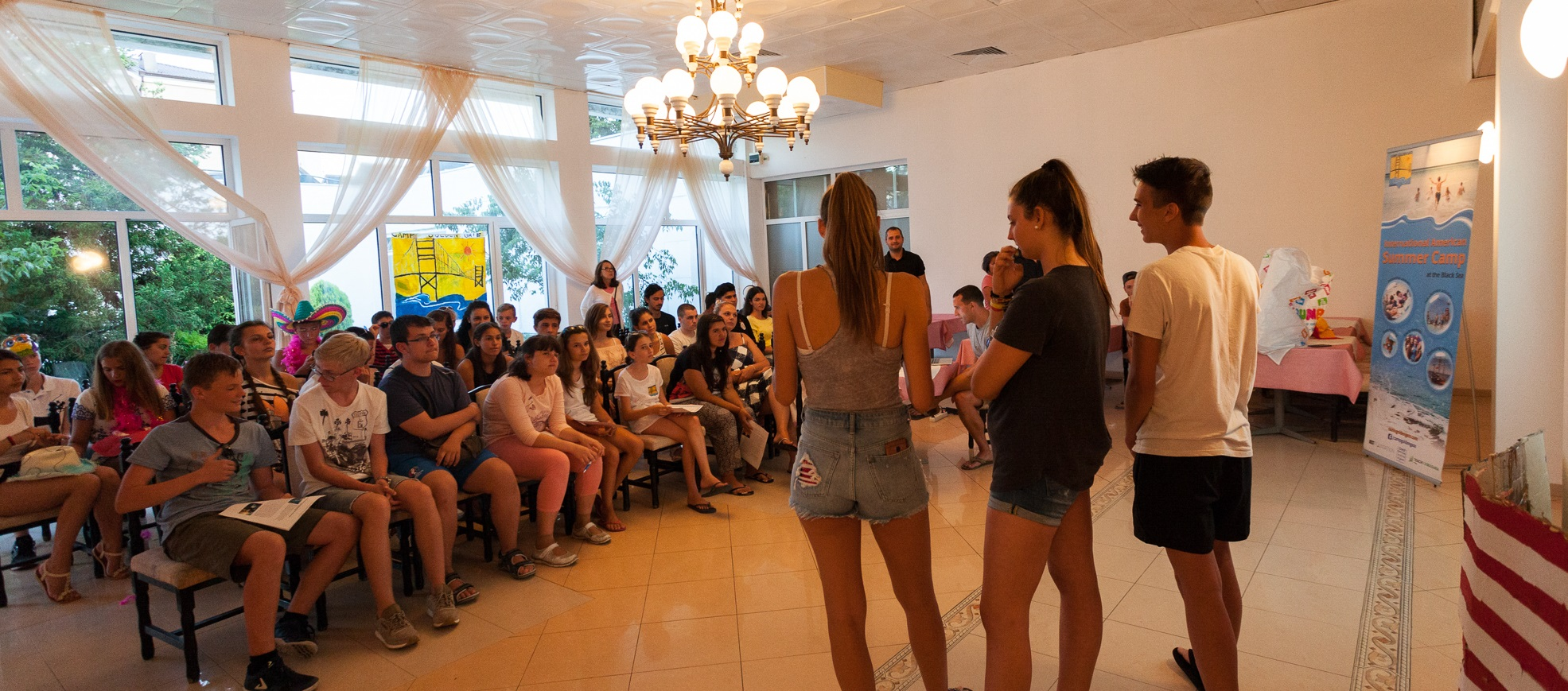 Camp Golden Gate develops students' self-esteem and ability to present in public.